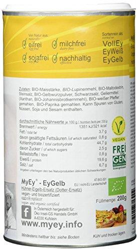 MyEy EyGelb, BIO Eigelb-Ersatz, vegan, sojafrei, cholesterinfrei, 2er Pack (2 x 200 g) - 5