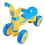 Acecoree Baby Laufrad Lauflernhilfe, Kinder Balance Bikes Kinder Walker Bike mit 4 Wheels für Unisex-Kinder(10 Monaten bis 36 Monaten) (Blau & Gelb)