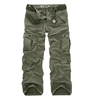 AYG Herren Cargo Hose Camouflage Freizeit Militär Hose(army green,33)