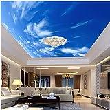 Malerei Blue Sky White Clouds Wandbild Moderne Designs 3D Wohnzimmer Schlafzimmer Decke Tapete Papel De Parede XXL 500X843CM
