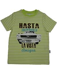 Stummer T-Shirt lindgrün gestreift HASTA LA VISTA