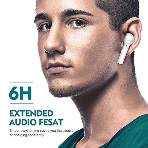 Auriculares inalámbricos  Auriculares Bluetooth  con Auriculares de micrófono con Cargador Portátil para iPhone X  8  8plus  7  7 + 6s  Samsung Galaxy  iOS  teléfono Inteligente Android