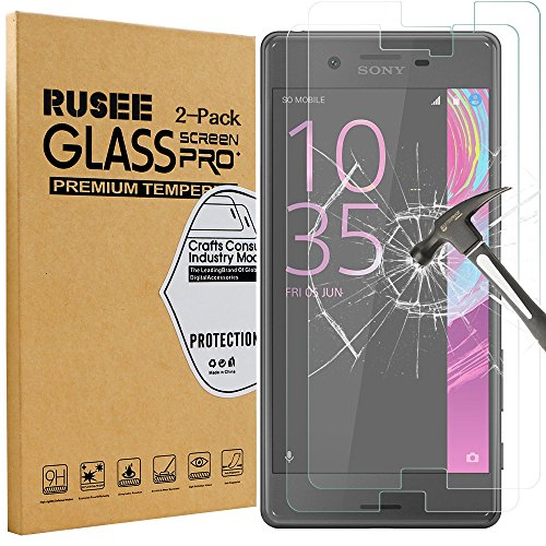 2-pack-sony-xperia-x-screen-protector-rusee-9h-hardness-crystal-clear-tempered-glass-screen-protecto