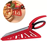 CKB Ltd® Pizza Scissors The 2 in 1 Pizza Cutter Slicer & Server - Great Food Serving Tool Gadget