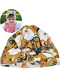 Sombrero del Bebé Niña con Orejas De Conejo del Sombrero Los Niños Pequeños Suave Turbante Flor