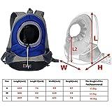AsiaLONG Hundetasche Rucksack Atmungsaktive Haustier Rucksäcke mit Straps Netzfenster Hundetragetaschen für Kleine Hunde und Mittelgrosse Hunde Reise Umhängetasche (S, Blau) - 3