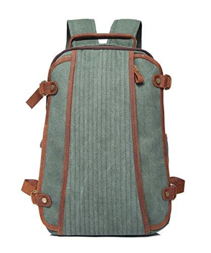 Zhangor zaino di tela vintage, zaino per studenti, borsa a tracolla per weekend casual, da esterno/da lavoro, uomo/donna. zaffiro,blue