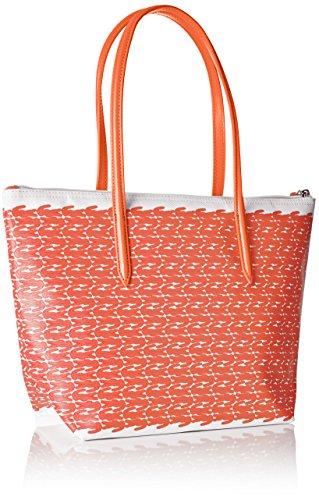 Lacoste Damen Nf1719cx Umhängetaschen, 24.5 x 14 x 23.5 cM ORANGE CROC (Orange Croc)