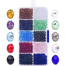 0725aa35bf0b 800 Piezas 6mm Cristal Tallado Perlas De Cristal Rondelles Con Caja y paño  limpio