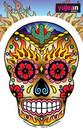 sunny-buick-western-sugar-skull-in-out-weather-protected-extra-long-lasting-die-cut-vinyl-sticker-de