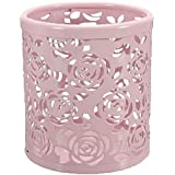 Demarkt Ciselé Pot à Crayons en Métal avec Style de Roses Rangements Pour Produits Cosmetiques/Boite De Maquillage/Organisateur Multi-Cosmetiques