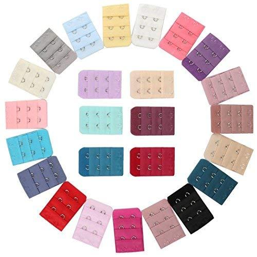 Ailiebhaus Ailiebhaus 25 Stück farbig sortiert Frauen 2-Haken 3 Reihen Abstand Bra Extender Strap BH-Erweiterung