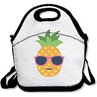 Preisvergleich für futonghuaxia Ananas mit Sonnenbrille Leicht Outdoor Lunch Bag Lunch Box Isoliert Tote Kühler Lunch Tasche Picknick Tasche Lunch Tote, für Schule Arbeit Büro, Geschenk für Frauen