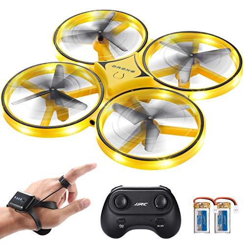 SGILE Ferngesteuerte Drohne mit 2 Ersatzakku, RC Drone mit LED, 360° Flip, Schwerkraftsensor, Werfen-fliegend Quadrocopter mit Infrarot-Hindernisvermeidung für Jungen Mädchen Erwachenen Geschenk