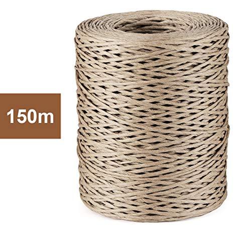 Sweelov 150M Papierkordel Papierdraht Natur Dekodraht zum Basteln Floristik Ø 2mm