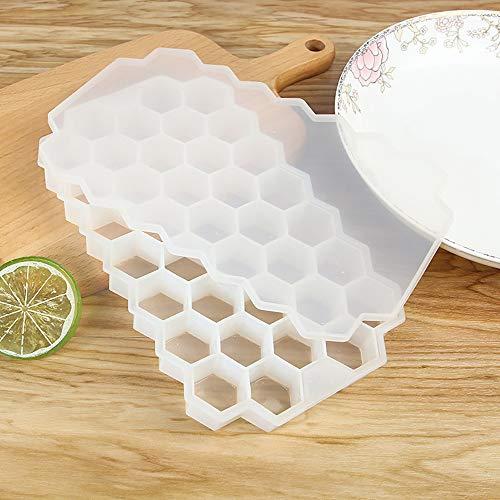 promise2301 A Eiswürfel mit Silicagel Wabengitter mit 37 Rastern ist 9,5 ml große Eisform durchsichtig
