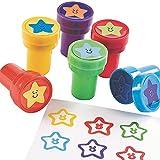 6 x Stempel Sterne Weltraum Weltall Star Mitgebsel Kindergeburtstag Adventskalender Schultüte Kinderstempel Universum