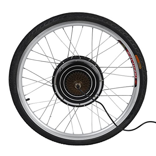 "CIMIVA E-Bike 26\"" Zoll Umbausatz Nachrüstsatz Ebike Conversion Motor Kit Pedelec, Elektrofahrrad Conversion Kit (Vorderrad Umbausatz/Hinterrad Umbausatz) (48V1000W-Hinterrad Umbausatz)"