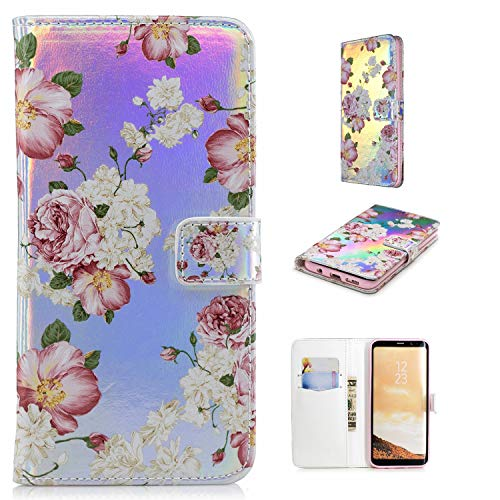 Klassikaline Galaxy S8 Hülle, Samsung Galaxy S8 Wallet Case, Samsung Galaxy S8 Schutzhülle, Lederhülle Handyhülle für Samsung Galaxy S8 - Rosa Rose Neue Wallet Case