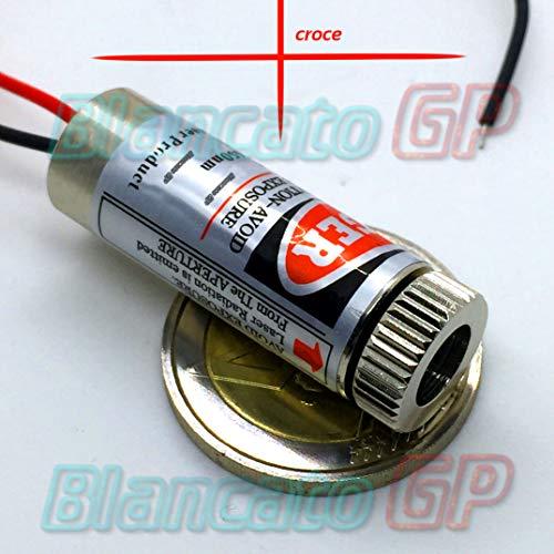 MODULO LASER 650nm CROCE ROSSA Diode Pointer puntero 3 V 5 V DC - 12 Laser-diode Mm