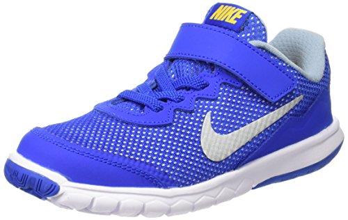 Nike Flex Experience 4 (Psv) Scarpe da corsa, Bambini e ragazzi, Multicolore (Blk/Mtlc Drk Gry-Anthrct-White), 28 Multicolore (Hypr Cblt / Mtllc Slvr-Vrsty Mz)