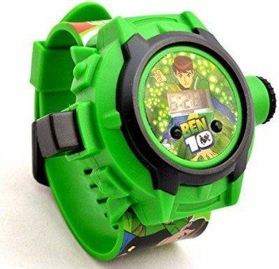 BLUTECH Digital Black Dial Kids Watch (BEN 10 Design)