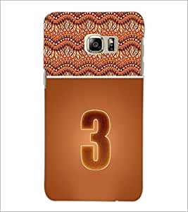 PrintDhaba Numerology Number 3 D-3635 Back Case Cover for SAMSUNG GALAXY NOTE 5 EDGE (Multi-Coloured)