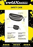 voltX Hardwearing Clamshell Safety Glasses Case and Safety Cord - With Belt Hook/Clip - Flock-Lined Bild 2