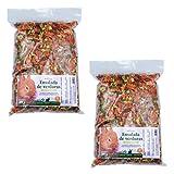 FINCA CASAREJO Snack Natural para Conejos, cobayas y Chinchillas - Ensalada de Verduras (2 Unidades)