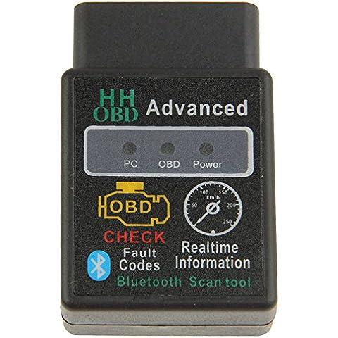 Hh Obd Elm327 Obd2 Obdii V1.5 Bluetooth Avanzato Strumento Diagnostico Wireless Strumento Di Analisi Obd2