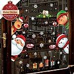 heekpek Natale Vetrofanie Display Rimovibile Adesivi Murali Fai da te Finestra Decorazione Vetrina Wallpaper fiocco di… 51QGh rQyrL. SS150