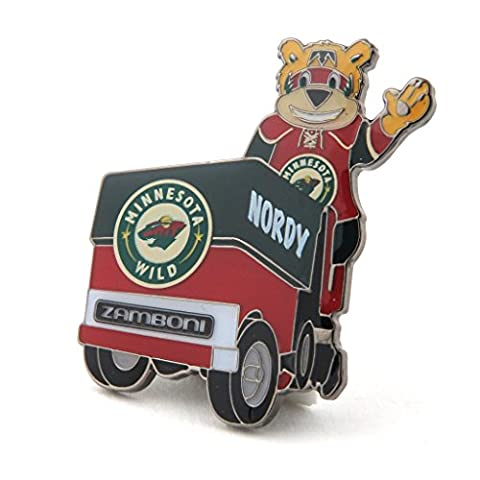 Minnesota Wild Mascot on Zamboni Lapel