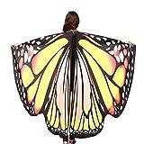 Rovinci_Women Tops ¡Gran promoción!RovinciChal de Alas de Mariposa Duendecillo para Adulto Mujer Capa de Muchacha Accesorio para Disfraz Playa Fiesta