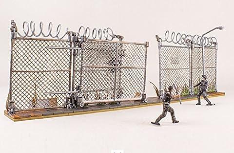The Walking Dead Bauset 192 teilig - Gefängstor und Gitter mit 2 Walking Dead Figuren Glenn und Zombie