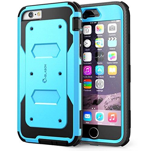 Apple iPhone 6 / 6s (4.7 Zoll) Hülle, i-Blason [ArmorBox Serie] Case mit integriertem Displayschutz. Blau
