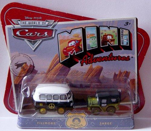 Disney CARS Mini Adventures Radiator Springs 2-Pack Fillmore & MP Sarge