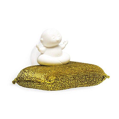 Yogi Schwamm Halter von PELEG DESIGN-Kunststoff-Schwamm für Küche & Bad Spüle mit Saugnapf bis-Dish Schwamm Caddy Halter-trocknet alle Arten von Schwämme, 1Schwamm im lieferumfang enthalten Dish Caddy