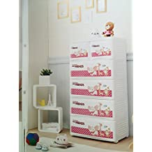 Cómoda blanca infantil de polipropileno,plástico.habitacion bebe, dormitorio niño, 4 cajones grandes y 2 pequeños, plástico, cajonera ,mueble auxiliar, mueble baño