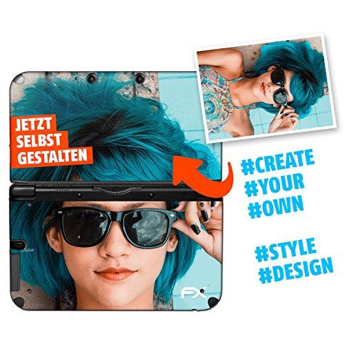 atFoliX Personalisierbare Nintendo 3DS XL 2012 Designfolie - gestalte deinen Skin Aufkleber im Custom-Konfigurator einfach selbst