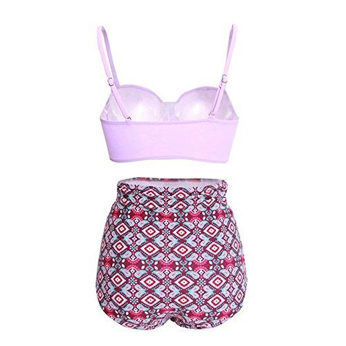 Sexy Bademode High Waist Badeshort Push-Up Badeanzug Big Size Cups Bikini mit hoher Taille Stil 1