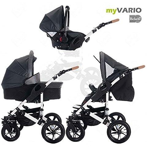 bebebi | modèle myvario | 3en 1Combi Poussette | Air pneumatiques