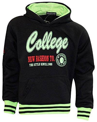 Unbranded Unbranded Kid College Hoody College-Black 4 Years