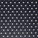 Sugarapple Sugarapple Beschichteter Baumwoll Stoff, wasserdicht, wasserabweisend, Wachstuch, Meterware - Dunkelblau mit weißen Sternen