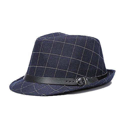 chapeau-casquette-fedora-trilby-jazz-borsalino-ceremonie-homme-femme-bleu-fonce