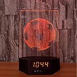 Football Acrylique 3D Calendrier Veilleuse LED 7 couleurstactile lampe de bureau lampe d'atmosphère lampe Cadeau créatif