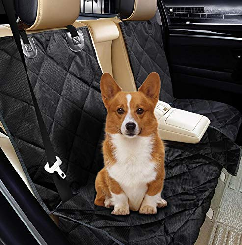 Fityou Funda Asiento Coche Perro, 600D Oxford de Tela Impermeable Resistente Protectores de Asiento para Coche Trasero, Protector de Tapicería para Perros Gato Mascotas Cubierta Accesorios para Viajes