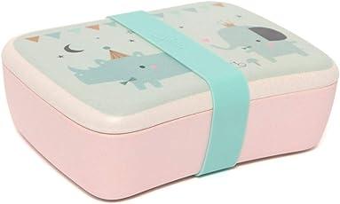 pelzitoys Bambus Brotdose Lunchbox Vesperbox Frühstücksdose Brotbüchse Rhino & Friends Petit Monkey