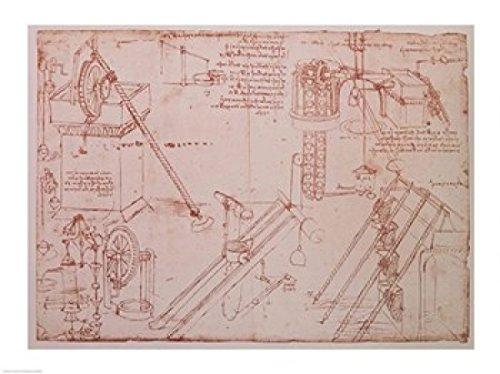 Leonardo Da Vinci – Studium der Hydraulische Geräte Kunstdruck (60,96 x 45,72 cm) (Da-vinci-geräte)