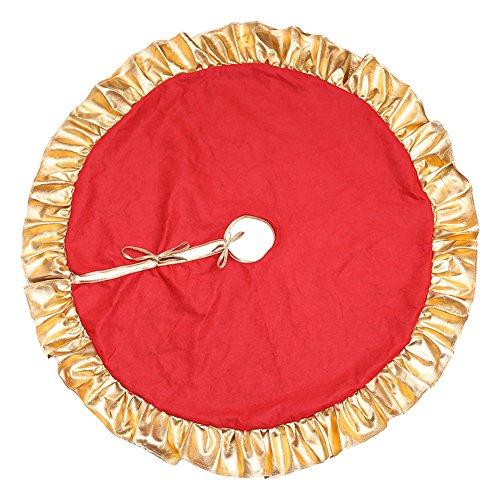 Da.Wa 1X 90cm Rojo Árbol Navidad Falda Pie árbol