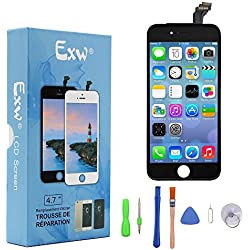 Ecran Tactile Ecran De Remplacement LCD Ecran De Rechange Avec Kit D'outils Pour iPhone 6 (4.7 pouces) Noir